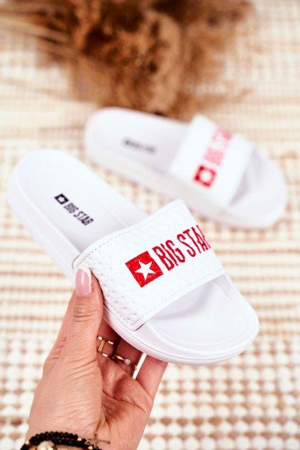 Detské šľapky farba biela kód obuvi GG374803 WHITE