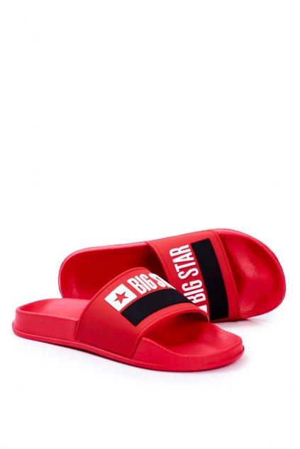 Pánske šľapky farba červená kód obuvi GG174939 RED