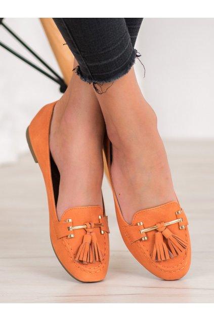 Oranžové topánky Nio Nio NJSK 99-08A-OR