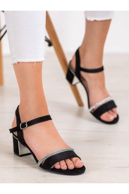 Čierne sandále Anesia Paris NJSK 88-390B