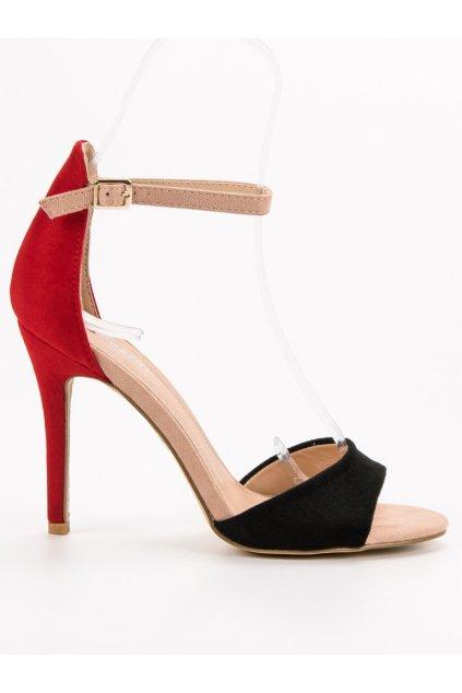 Čierne dámske sandále na ihlovom opätku Seastar WD100B