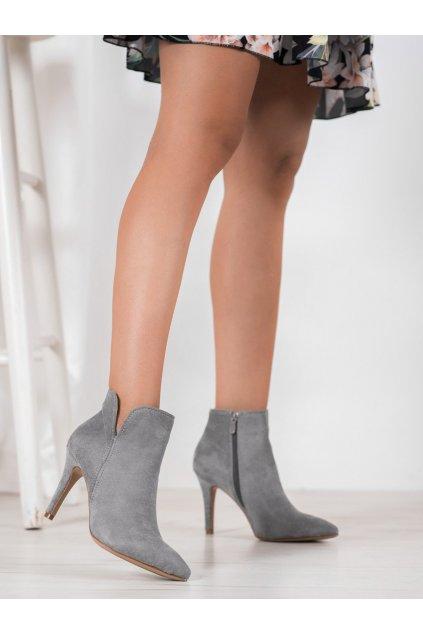 Sivé dámske topánky Bella paris kod A8503D.G
