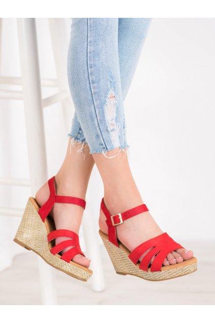 Červené sandále Small swan NSJK BL-20R