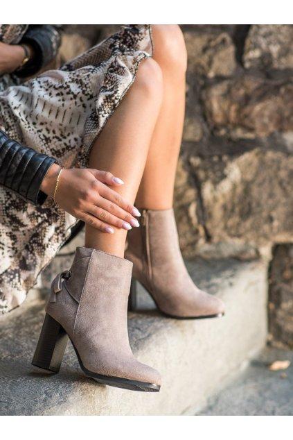 Hnedé dámske topánky Goodin kod GD-BM-120D.BE
