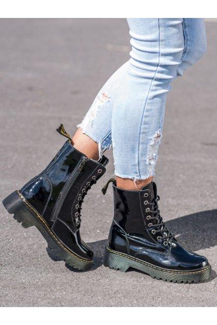 Čierne dámske topánky Vinceza kod SG21-7787B