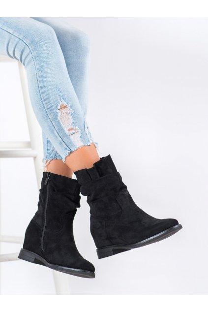 Čierne dámske topánky Vinceza kod OCA21-2180B