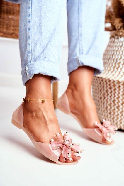 Dámske balerínky farba ružová kód obuvi 683 PINK