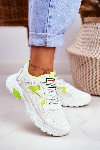 Dámske tenisky farba biela kód obuvi D58-1 YELLOW