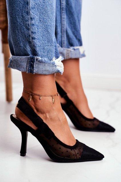 Dámske lodičky farba čierna kód obuvi 698-1 BLACK