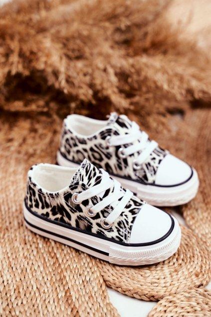 Detské tenisky farba biela kód obuvi 890 WHITE