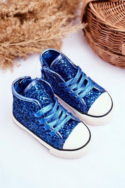 Detské tenisky farba modrá kód obuvi 80092 BLUE