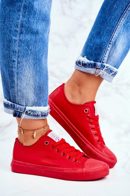 Dámske tenisky farba červená kód obuvi DD2R4032 RED