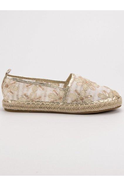Hnedé dámske balerínky - Lucky shoes 68-118BE