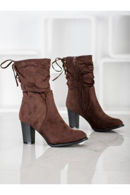 Hnedé dámske topánky J. star NJSK V19023BR