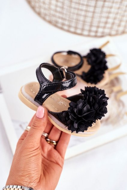 Detské Sandále se Suchým Zipem Zářící biele Milena NJSK 243-1A