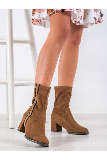 Hnedé dámske topánky Goodin kod HF211C