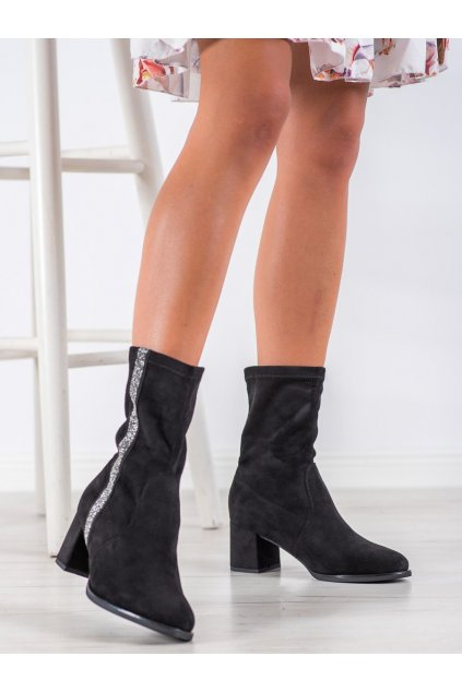 Čierne dámske topánky Goodin kod HF211B