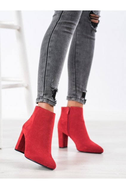 Červené dámske topánky Sergio leone kod BT548R