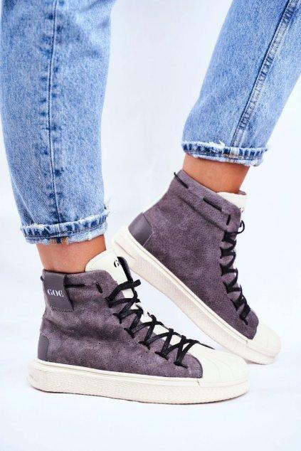 Dámske tenisky farba sivá kód obuvi GG2N3049 GREY