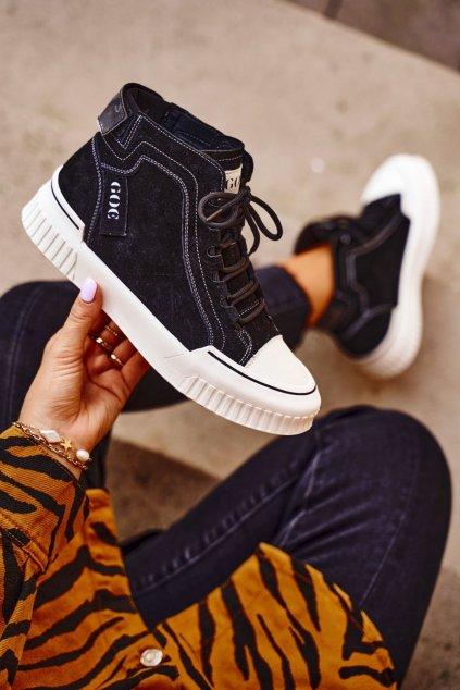 Dámske tenisky farba čierna kód obuvi GG2N3062 BLK