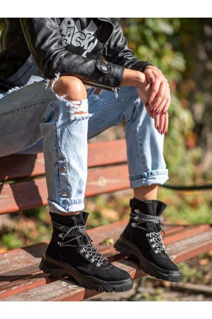 Čierne dámske topánky Sergio leone kod TR729B