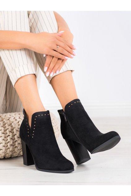 Čierne dámske topánky Seastar kod UK11B