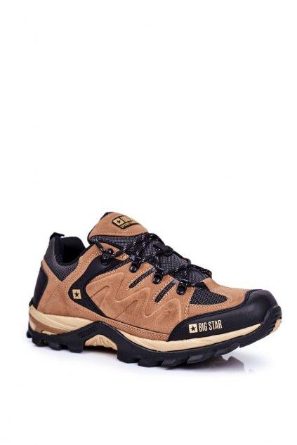 Pánske trekingové topánky farba hnedá kód obuvi GG174280 CAMEL
