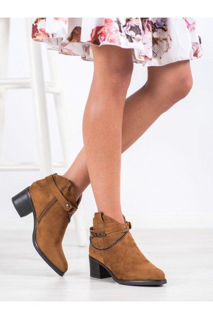 Hnedé dámske topánky Vinceza kod HX21-16200C
