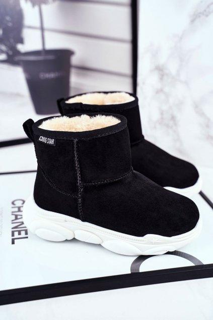 Detské snehule farba čierna kód obuvi GG374085 DK.GREY