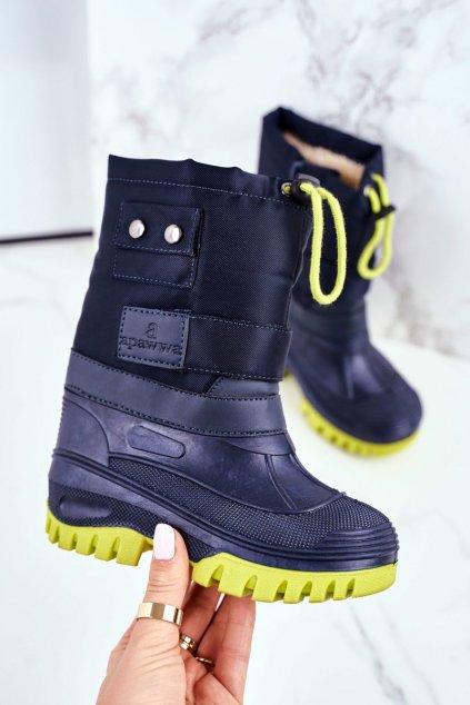 Detské členkové topánky farba modrá kód obuvi D100 NAVY