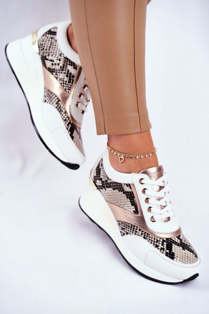Dámske tenisky farba biela kód obuvi GG2N3045 WHITE