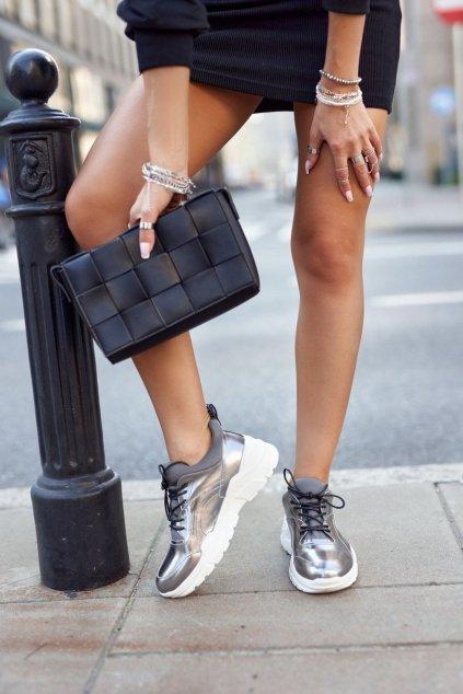 Dámske tenisky farba čierna kód obuvi GG2N3040 PEWTER
