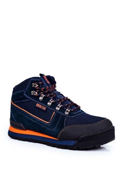 Pánske trekingové topánky farba modrá kód obuvi GG174199 NAVY