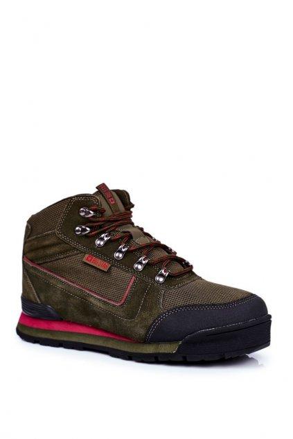Pánske trekingové topánky farba zelená kód obuvi GG174200 KHAKI