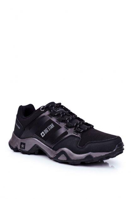 Pánske trekingové topánky farba čierna kód obuvi GG174269 BLK