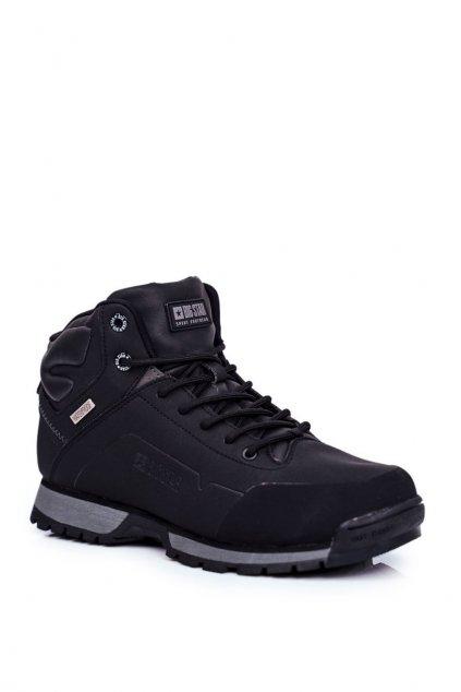 Pánske trekingové topánky farba čierna kód obuvi GG174395 BLK