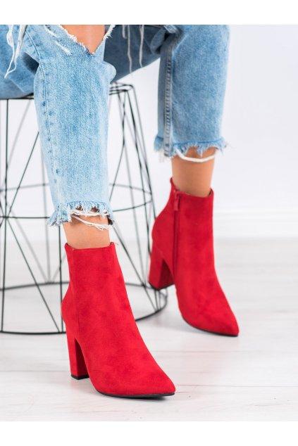 Červené dámske topánky Seastar kod NC898R