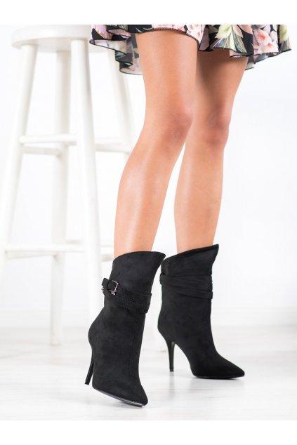 Čierne dámske topánky Seastar kod RB73B
