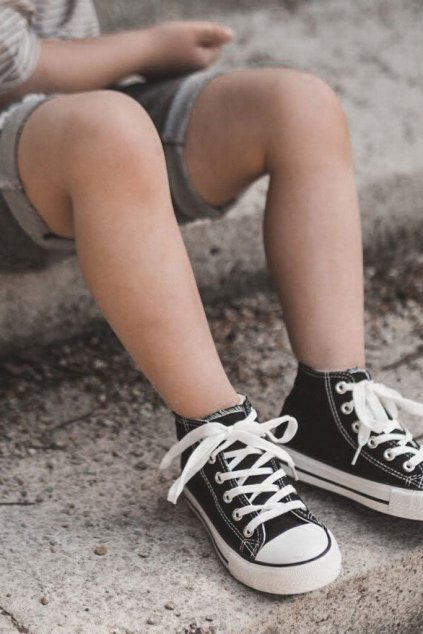 Detské tenisky farba čierna kód obuvi 80090-A BLK