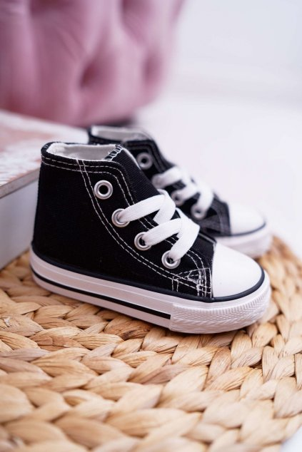 Detské tenisky farba čierna kód obuvi 80090 BLK