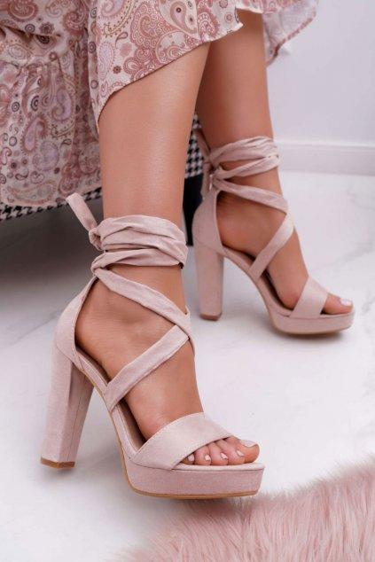 Hnedá obuv kód topánok KK35 BEIGE