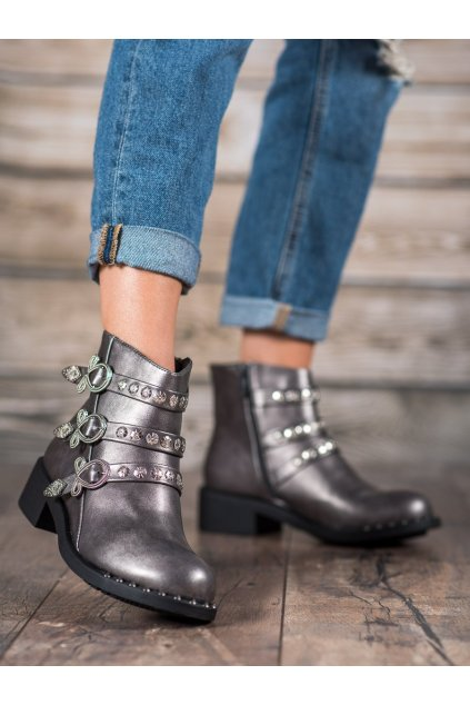 Sivé dámske topánky Forever folie NJSK HQ2020G