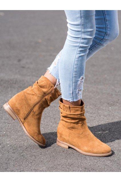 Hnedé dámske topánky Vinceza NJSK OCA21-2180C