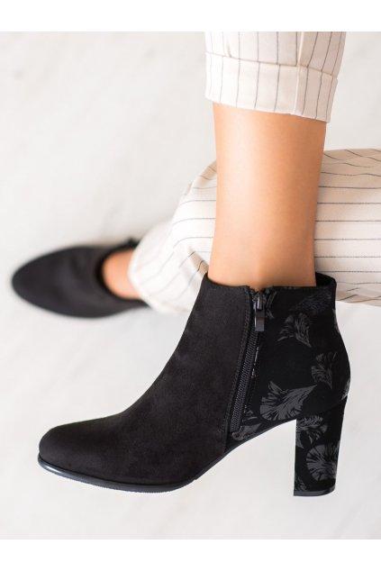 Čierne dámske topánky Sergio leone NJSK BT547B/G