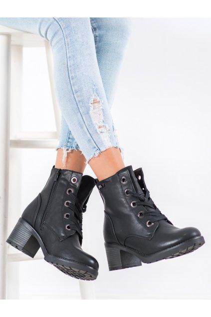 Čierne dámske topánky Goodin NJSK GD-ZN87B