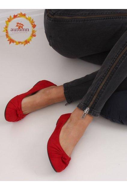 Dámske baleríny červené NJSK 8F62