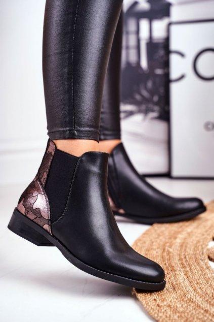 Čierna obuv kód topánok 18-35 BLK
