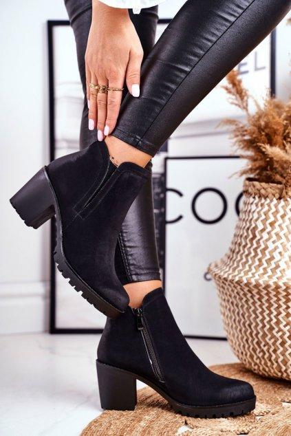Čierna obuv kód topánok 14-45 BLK