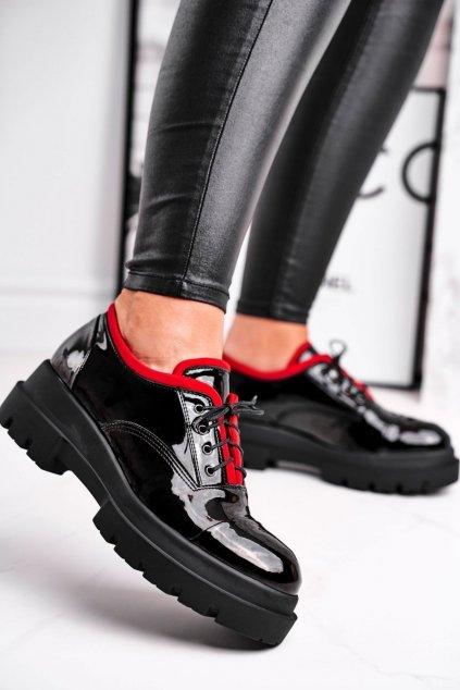 Dámske poltopánky farba čierna kód obuvi 7427936/343 LR NERO/RED