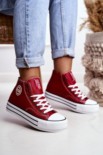 Červená obuv NJSK GG274014 RED